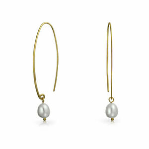 White-Freshwater-Cultured-Wire-Threader-Earrings-14K-Gold-Plate-Sterling-Silver