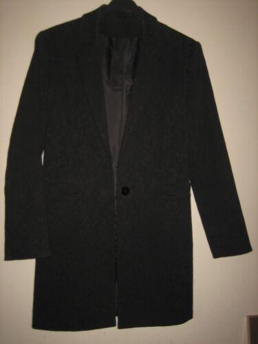 Størrelse Stilfuld Lang dejlig Single 32 Længde Sort 10 En Jacket Breasted Richards 7qw588Z