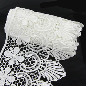 2-Yds-Wide-Fabric-Crochet-Lace-Trim-Sewing-Trimming-Edge-Wedding-Ribbon-Craft