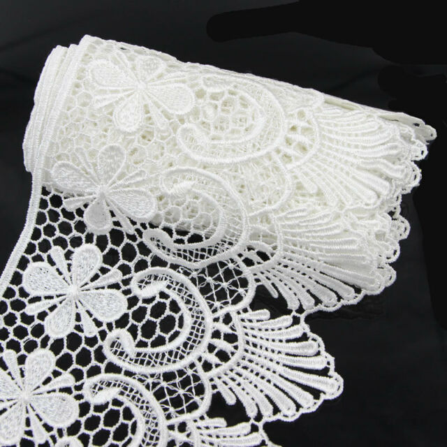 2 Yds Wide Fabric Crochet Lace Trim Sewing Trimming Edge Wedding