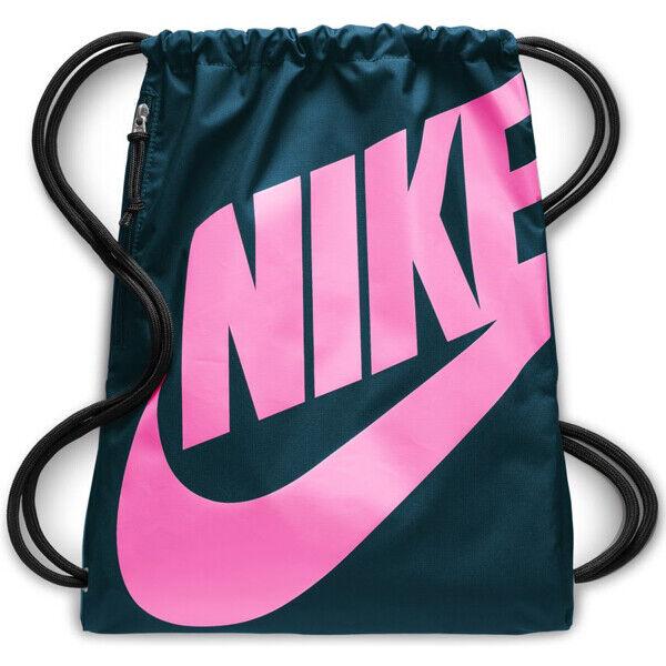 cristiandad Cosquillas fluido  Nike Heritage Gymsack Teal/pink Drawstring Bag Backpack Gym Sack Ba5351-304  for sale online | eBay