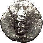 PHARSALOS Thessaly 330BC Rare R2 Ancient Silver Greek Coin Athena Horse i54041