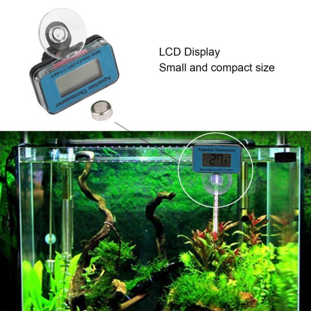 Digital Display Submersible Fish Tank Aquarium LCD Thermometer Temperature Meter