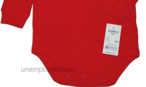NWT Lot Oshkosh Bodysuit Boys Shirt b/'gosh One Piece Long Sleeve Warm