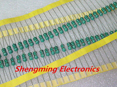 50PCS 0410 Color Ring Inductance 1uH 0.5W Axial RF Choke Coil Inductor
