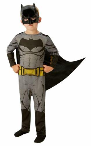 Boys Batman Costume Kids DC comics Superhero Fancy Dress outfit Dawn Justice