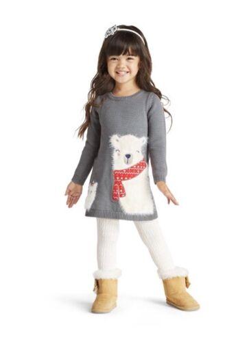 NWT Gymboree Girl North Pole Party Polar Bear  Dress 2T 3T 4T 5T