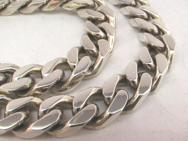 """Taxco, Mexican 925 Sterling Silver Curb Chain Necklace. 178g,  51cm,  20"""""""