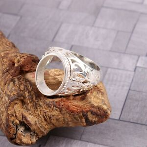 Semi Mount Ring Men's Ring Stone Setting Size 14X10 MM Oval Shape Unique Gift