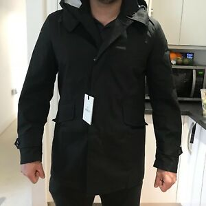 Mens-Moncler-Jacket-size-3-Black-Trench-coat-style-Blaise-vista-jet-giubbotto