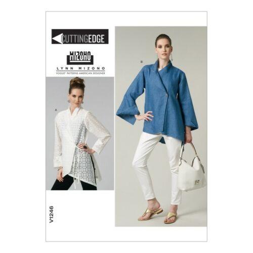 Vogue Sewing Pattern V1246 para Mujer Camisa Blusa Holgada Envoltura Corbata
