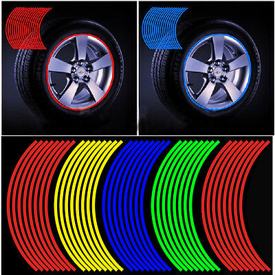 Bike Motorcycle Car Wheel Sticker Reflective Rim Stripe Tape Reflective Sticker