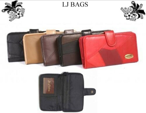 LADIES REAL LEATHER FASHION PATCHWORK COIN ZIP PURSE WALLET CREDIT CARD HOLDER