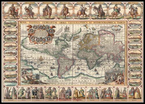 Mapa del Viejo Mundo-Chart puntada cruzada contada Patrones De Costura hágalo usted mismo Color DMC