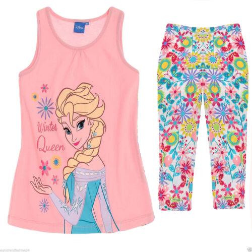 Rock Shorts Capri Kinder Mädchen Disney Frozen Die Eiskönigin Elsa Anna T-Shirt