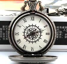 Anime Black butler / Kuroshitsuji Sebastian Pocket Watch,+ CHAIN,Children's gift