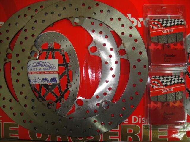 KIT 2 DISCS BREMBO+PADS FRONT BMW R 1150 GS 2001 2002 7D6