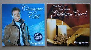 2-x-UNUSED-DAILY-MAIL-CDs-CHRISTMAS-WITH-CLIFF-amp-CHRISTMAS-CAROLS