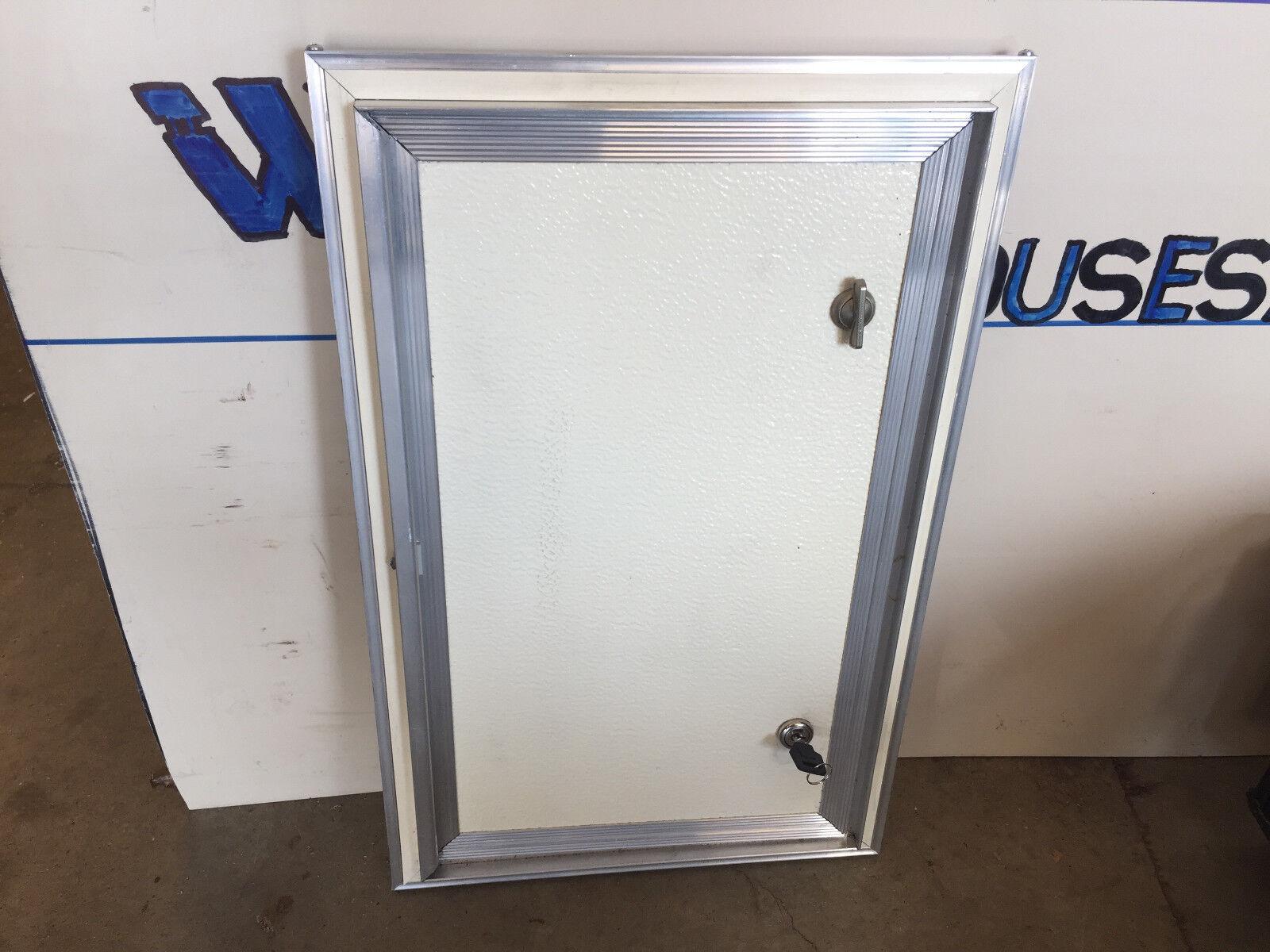 Rv motorhome camper bus cabinet exterior outside side for Outside side door