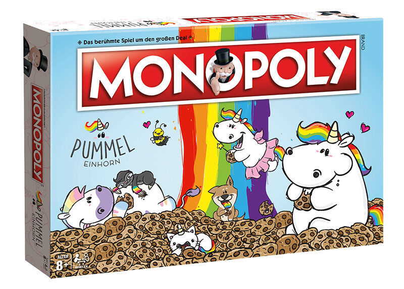 Monopol pummeleinhorn brettspiel gesellschaftsspiel protigt deutsch neu