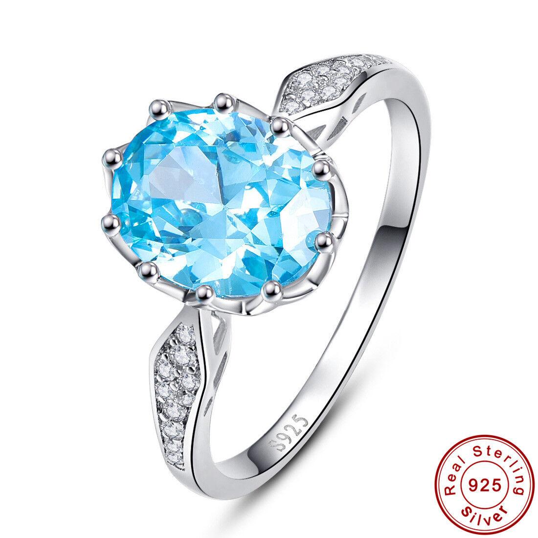 fine 100 solid 925 sterling silver wedding swiss blue. Black Bedroom Furniture Sets. Home Design Ideas