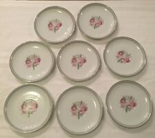 Vintage Lot of 8 Saucer Plates RC Noritake China Pattern 229 Orchids Japan HTF
