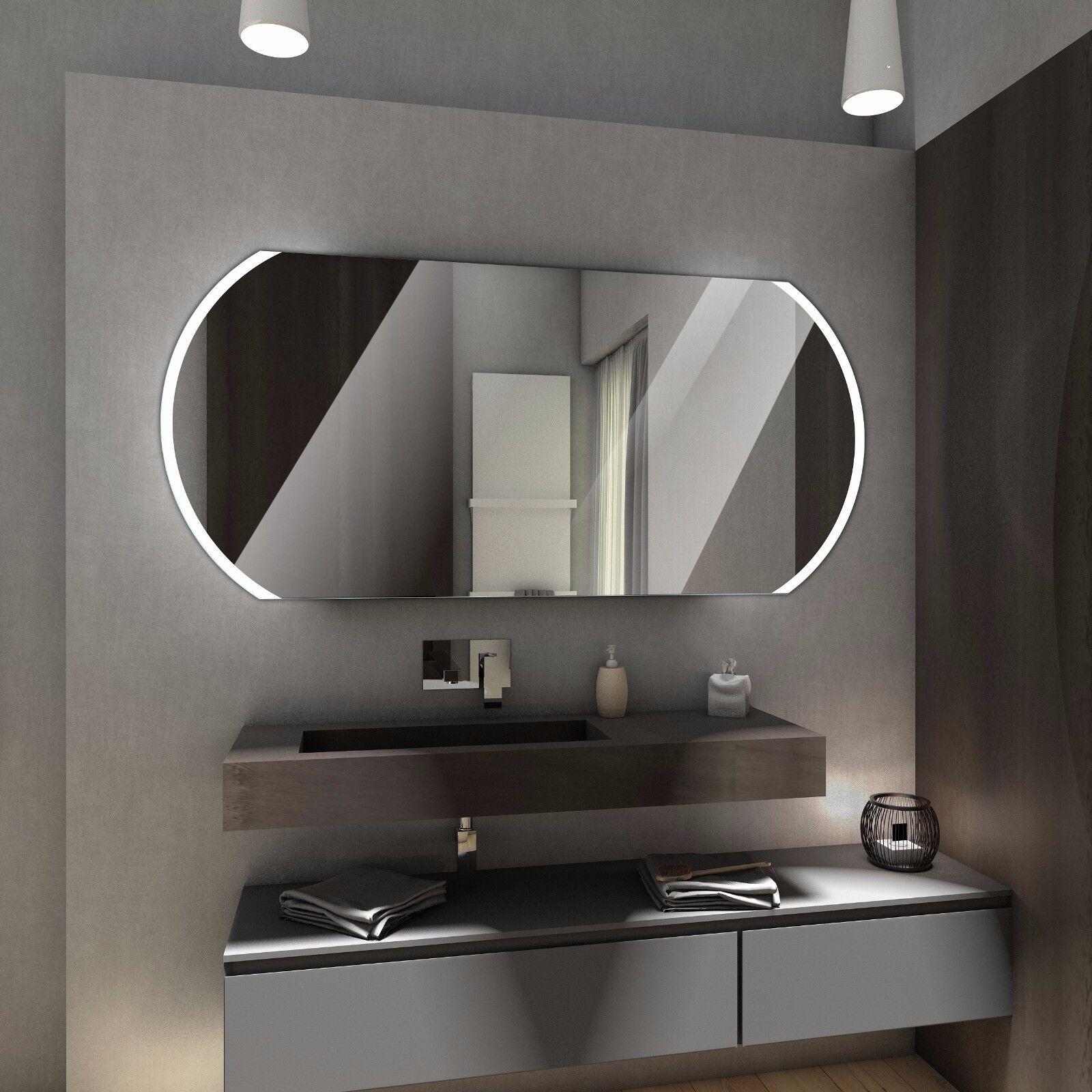 Badspiegel mit LED Beleuchtung Wandspiegel Badezimmerspiegel nach mass BALTIMORE