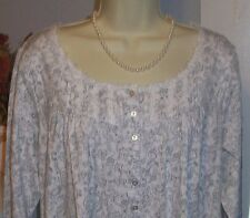NWT Small S Eileen West Gray Paisley Nightgown NEW Dreamtime Gown 100% Cotton