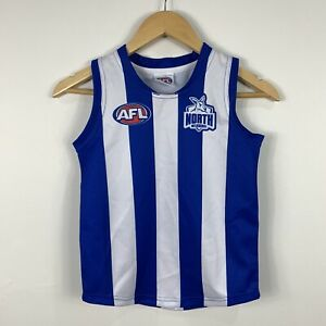 AFL-Kangaroos-Youth-Size-6-Football-Jersey-Sekem-Official-Good-Condition