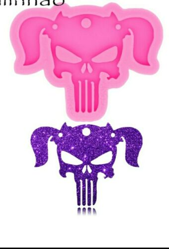 Shiny Halloween Skull Silicone Molds for Keyring Epoxy Resin Mold Craft Keychain