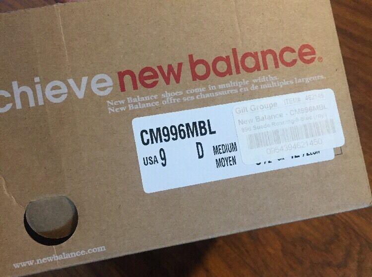 New Balance CM996MBK CM996MBK CM996MBK blueE SIZE 8 US USED    e82be3