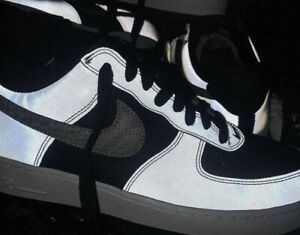 Brand New Nike Air Force 1 B Silver Snake Size 7.5 Reflective ...