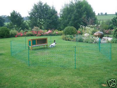 Gartenzaun elektrifizierbar Hunde Kaninchennetz  Kaninchenzaun 12m//65cm grün