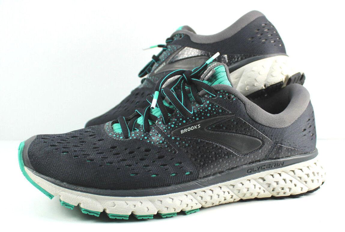 donna Brooks Glycerin 16 Ebony verde nero Running scarpe scarpe scarpe Sz 9.5 Walking Lace 7898ce