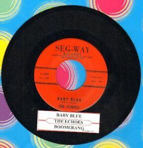 Echoes-Baby-Blue-B-A-B-B-Y-B-A-B-L-U-Vinyl-45-rpm-record-Free-Ship