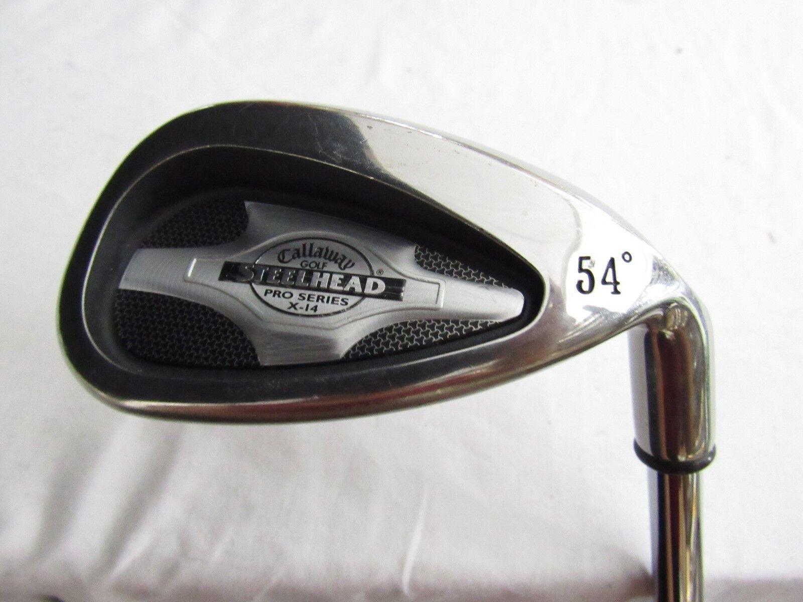 Used RH Callaway SteelHead X14 Pro Series 54° Sand  S  Wedge Steel Stiff S Flex  en stock