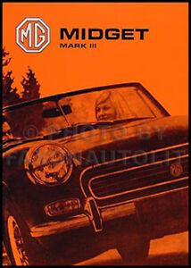 1973 1974 Mg Midget Manuel Du Propriétaire Drivers Handbook Livre Guide Rhd Et Uluuxerd-08000710-714808441