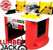 Lumberjack Bench Top Router Table with Built In 1500w Variable Speed Motor 240v