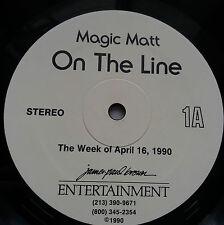 Magic Matt - On The Line Rare US Radio Show Vinyl 2x LP + Cue Sheets Madonna