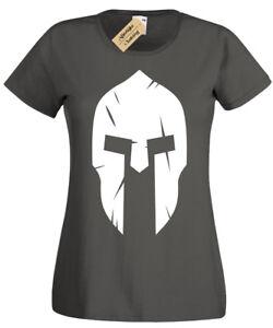 Spartan-Casco-Donna-T-Shirt-Donna-Palestra-Allenamento-Fitness-Top-Allenamento