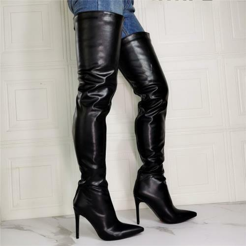 Details about  /Runway Women Pointy Toe Over The Knee Boots Stilettos High Heels Shoes 44//47 L