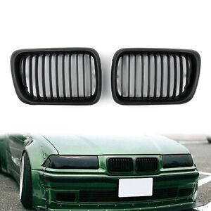 Matt-Black-Front-Rinon-Parrilla-Rejilla-Para-BMW-E36-1997-1999-3-Series-A