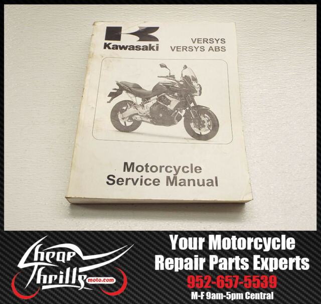 Factory Service Repair Manual Kawasaki Versys 650 2010 Oem