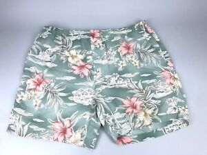 d71bb619ff Details about Tommy Bahama Men's Green White Pink Floral Tropical Swimming  Shorts Trunks XL