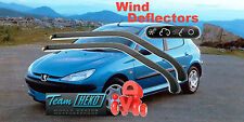 PEUGEOT 206 1998 - 2006 HATCHBACK  Wind deflectors  HEKO 26114 for FRONT DOORS