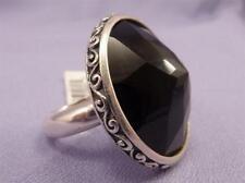 Brighton Sterling Silver Black Onyx DUOMO Ring Size 7