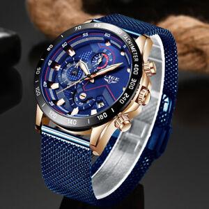 LIGE-Fashion-Mens-Watches-Top-Brand-Luxury-WristWatch-Quartz-Blue-Watch-Men-Wate