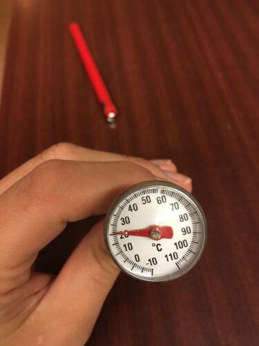 Bimetall Fleischthermometer Bratenthermomer mit Edelstahlfühler-Einstich