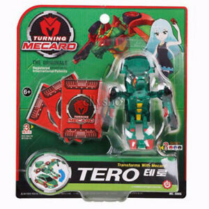 [Turning Mecard] Action Battle Figure Toy Transform TERO Green New
