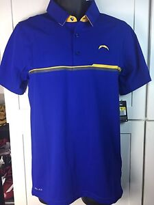 ed2cdfb8 Details about LOS ANGELES CHARGERS POLO SHIRT- NIKE ELITE PERFORMANCE-ADULT  SZ-NWT-$80 RETAIL